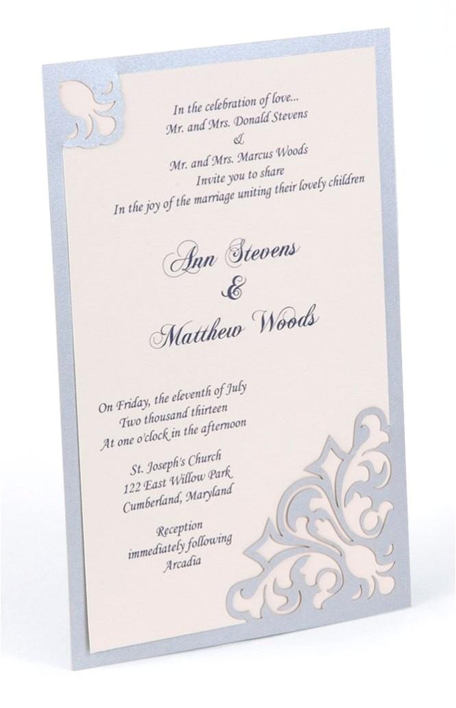 wedding invitation wording reception not immediately following