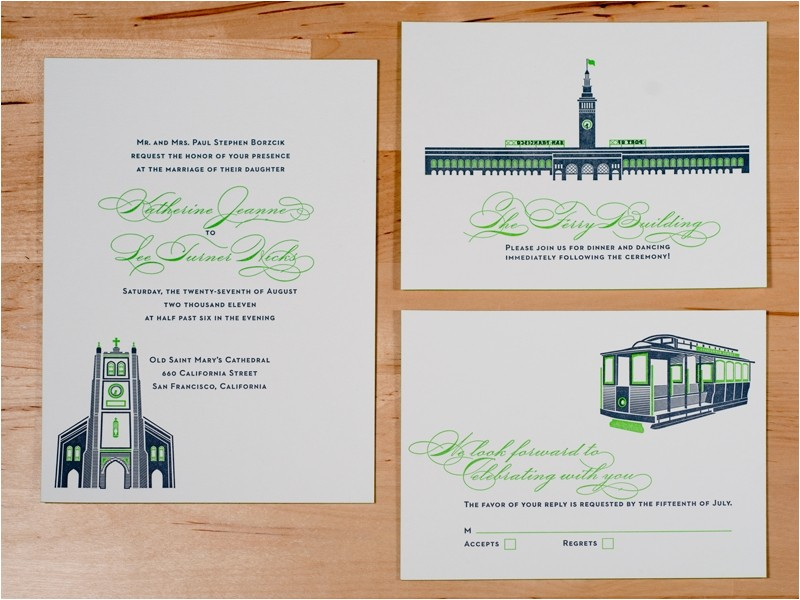 Wedding Invitations Sf San Francisco Wedding Invitations Cobypic Com