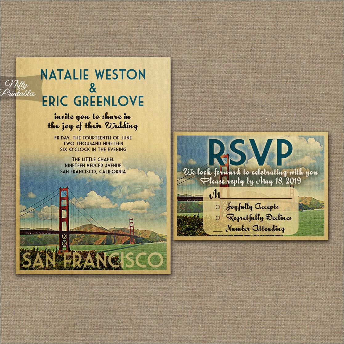 sanfrancisco wedding invitation