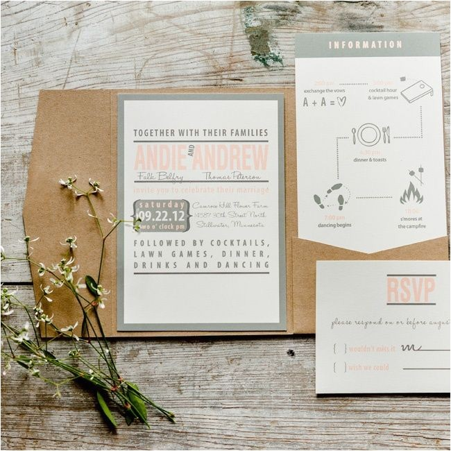 romantic wedding invitation photo album