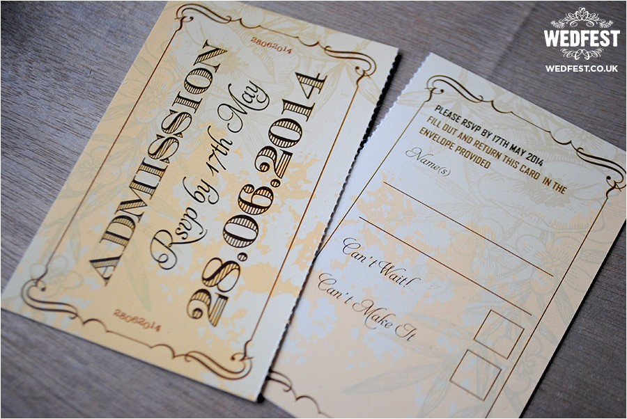 wedding invitations that look like tickets