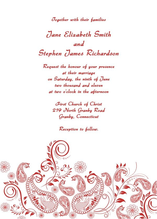 Wedding Invitations to Print at Home for Free Free Printable Wedding Invitation Templates