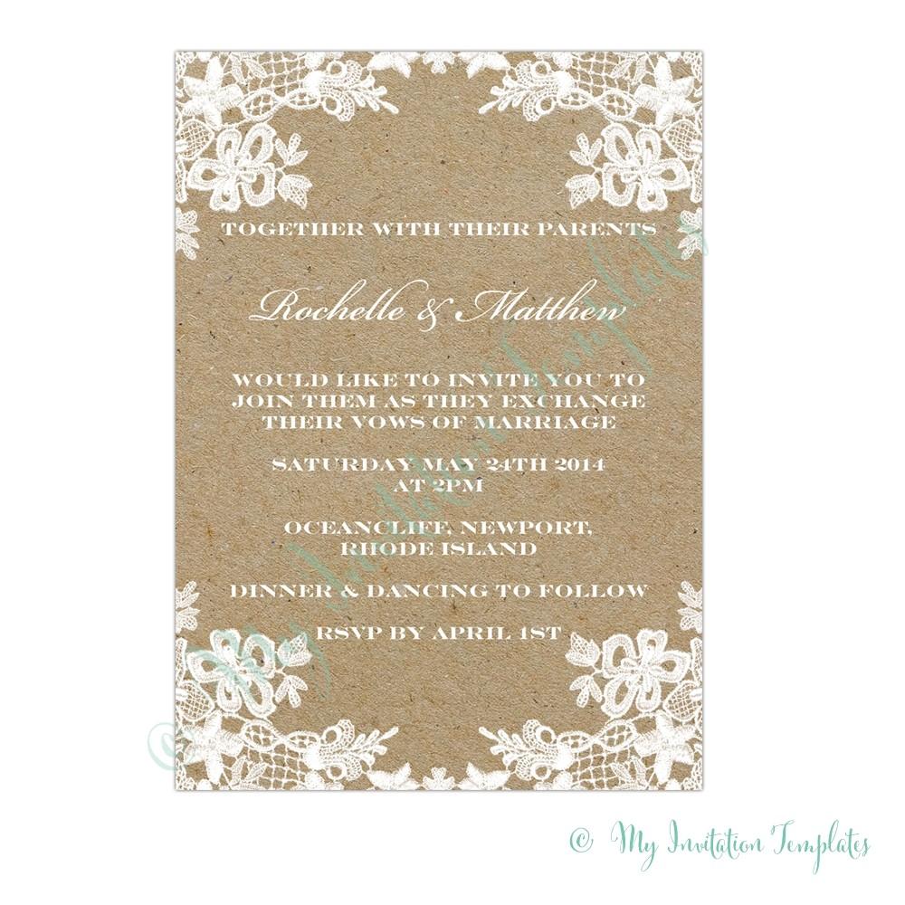 print at home invitation templates