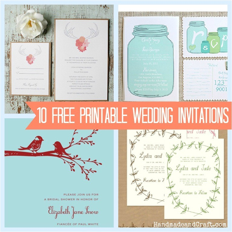print at home wedding invitations template
