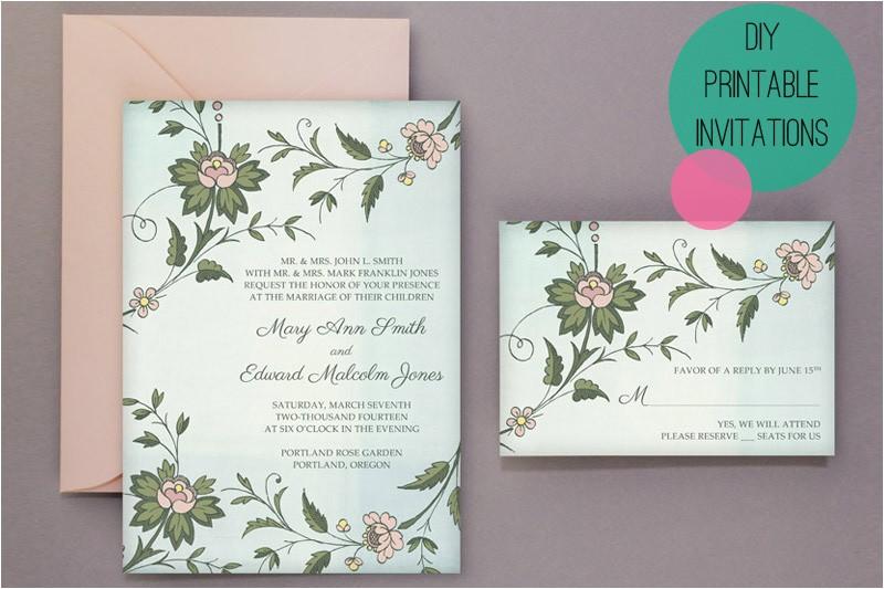 wedding diy free printable invitations rsvp