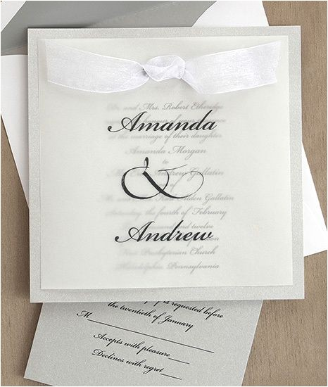 transparent wedding invitations