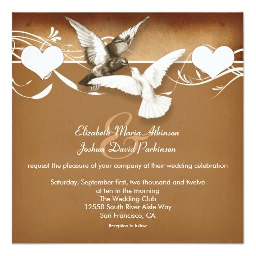 love birds doves wedding invitation 161287221976820746