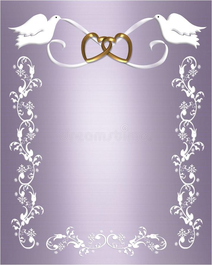 royalty free stock photo wedding invitation white doves image6359365