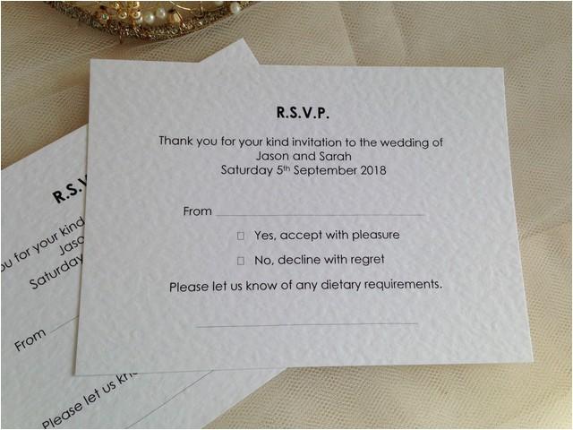 menu rsvp cards