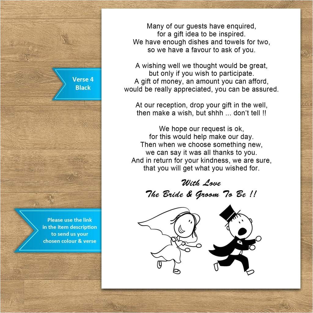 wedding invitation wording examples asking for money