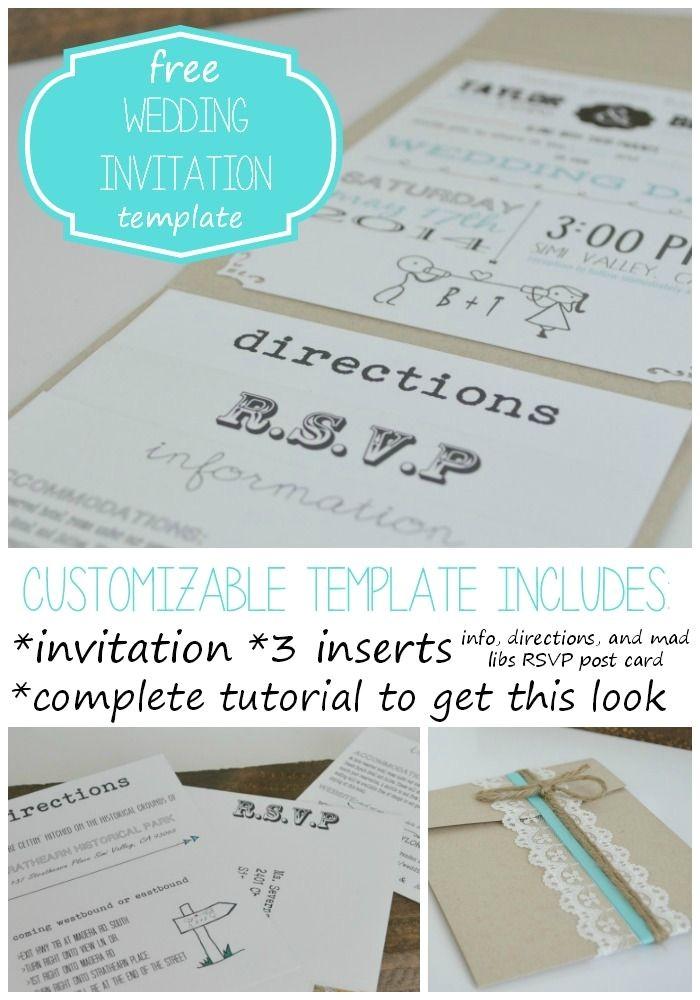free wedding invitation template with inserts free weddi