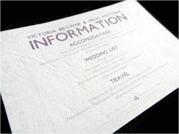 information card inserts for wedding