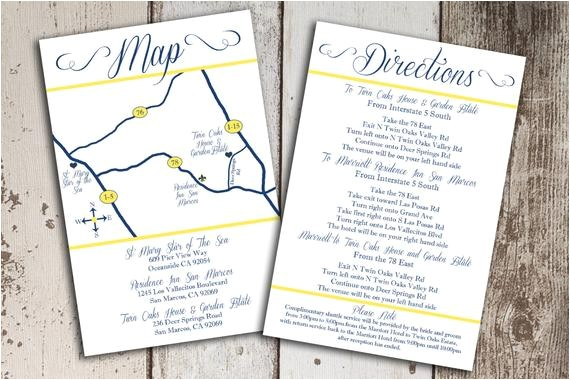 custom wedding map and direction