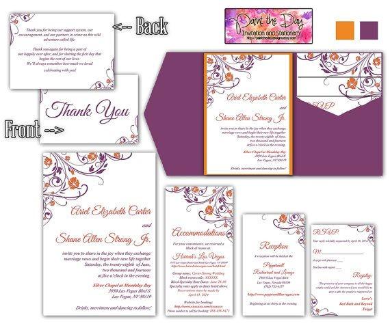 wedding invitation insert