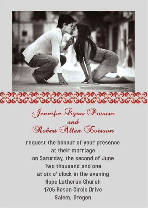 Wedding Invitations with Pictures Of Couple Be Born Of A Couple Photo Wedding Invitations Iwp015