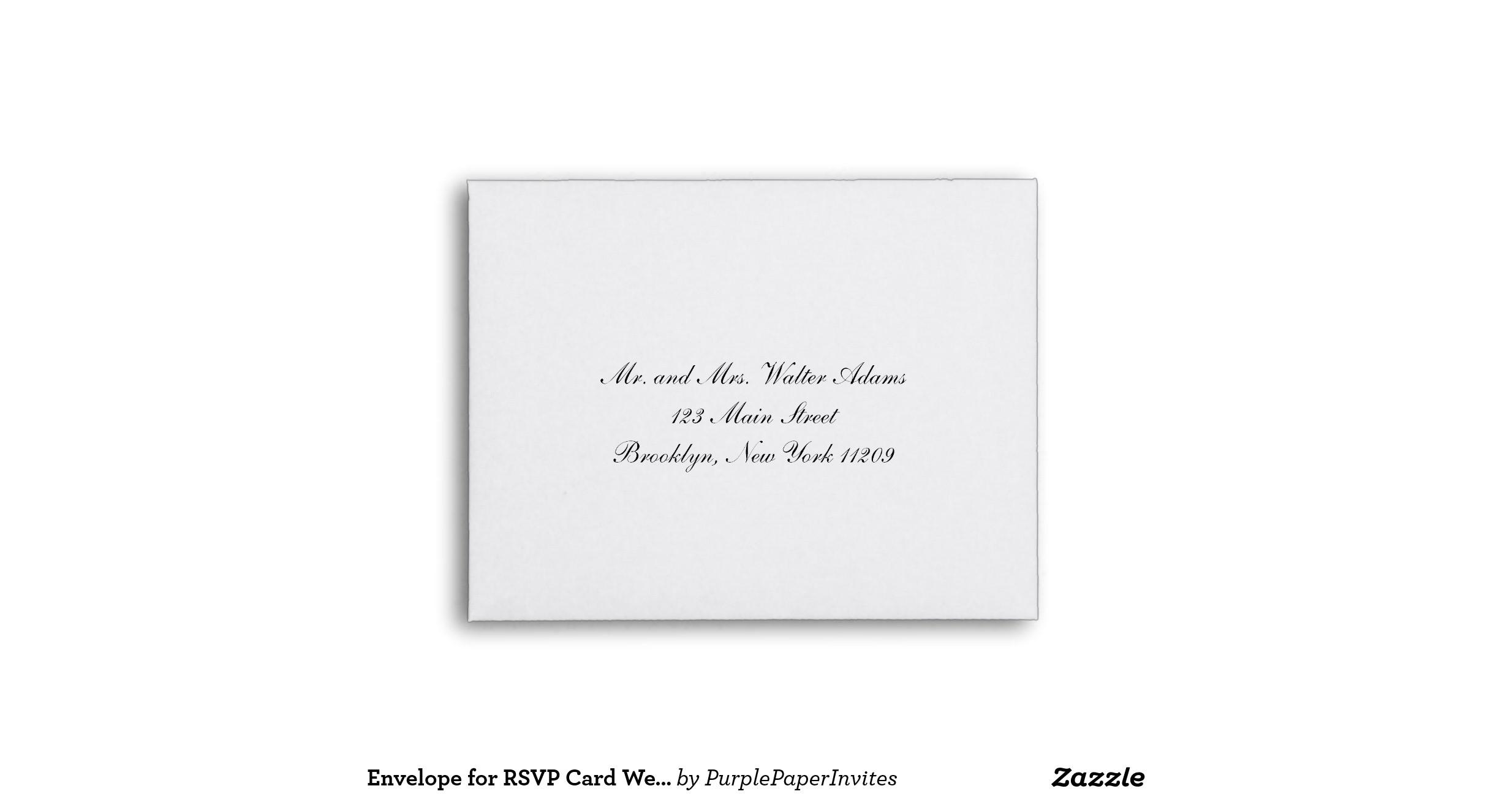 wedding invitation rsvp envelopes