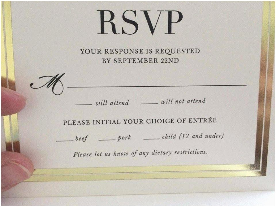 invitations with rsvp cards best of customized insert wedding party multi occation gold invitation rsvp