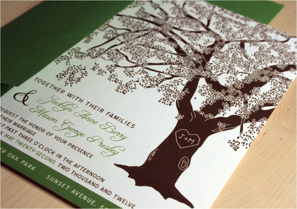 sample grandfather oak tree wedding