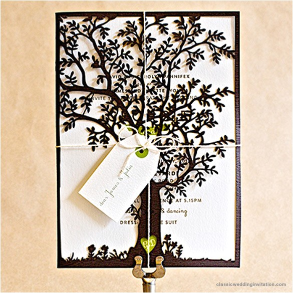 st gertrudes laser cut tree invitation