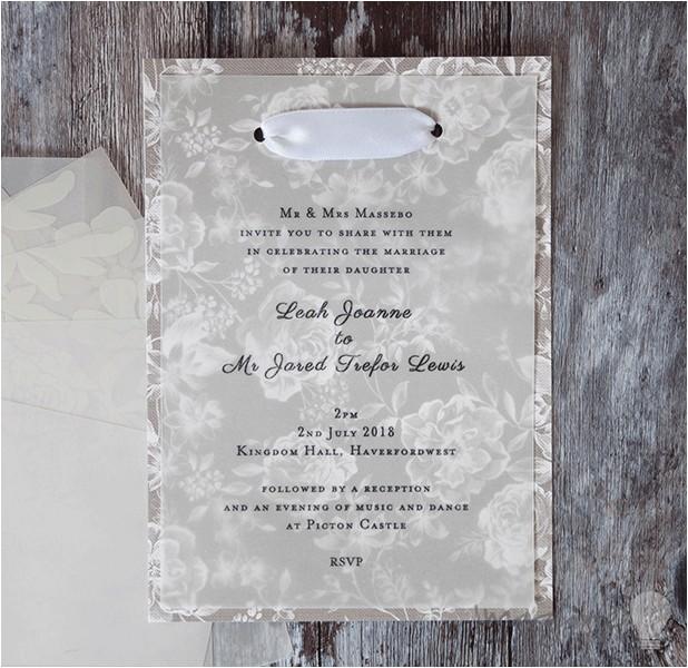 make vellum wedding stationery