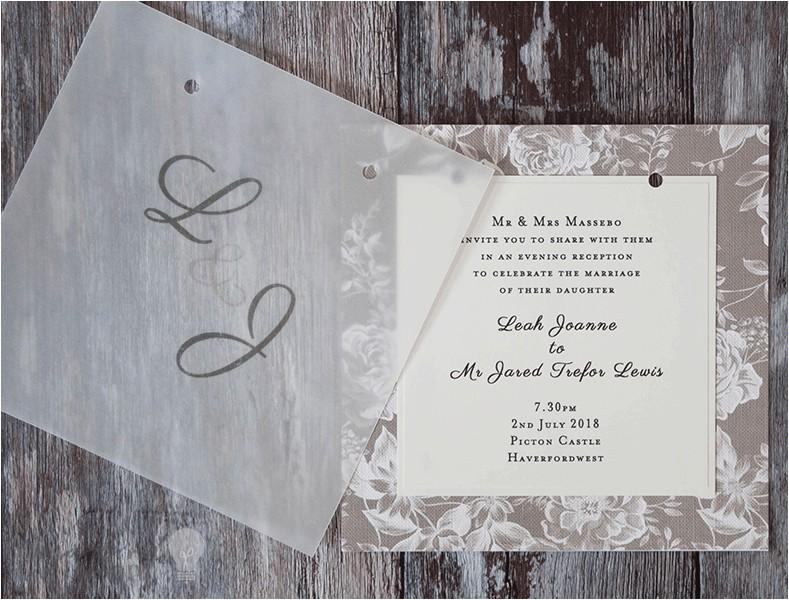 Wedding Invitations with Vellum Overlay How to Make Gorgeous Vellum Wedding Stationery