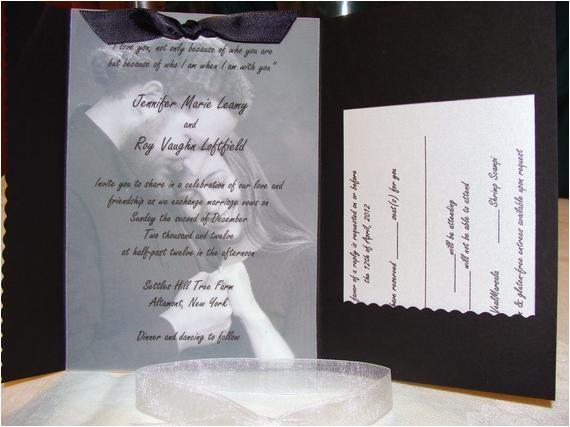 pocketfold wedding invitation with