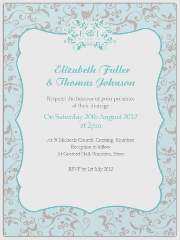 wedding invitation sample wording bride and groom inviting