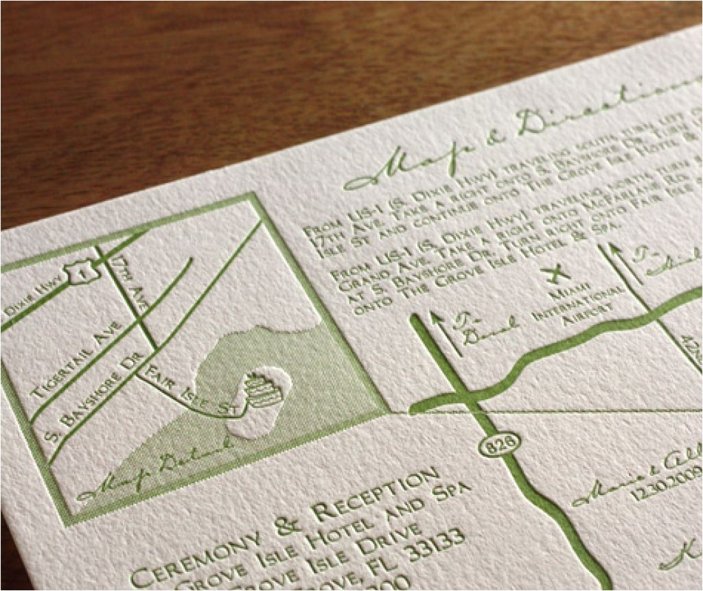 wedding invitations directions card samples