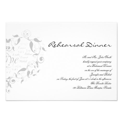 love in any language in silver wedding rehearsal invitation 161013411665606328