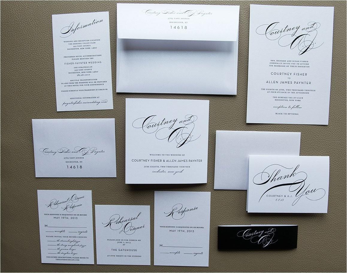 simple wedding invitation package