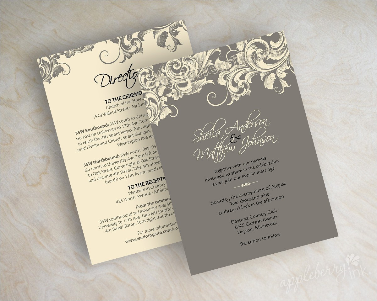 victorian wedding invitations template