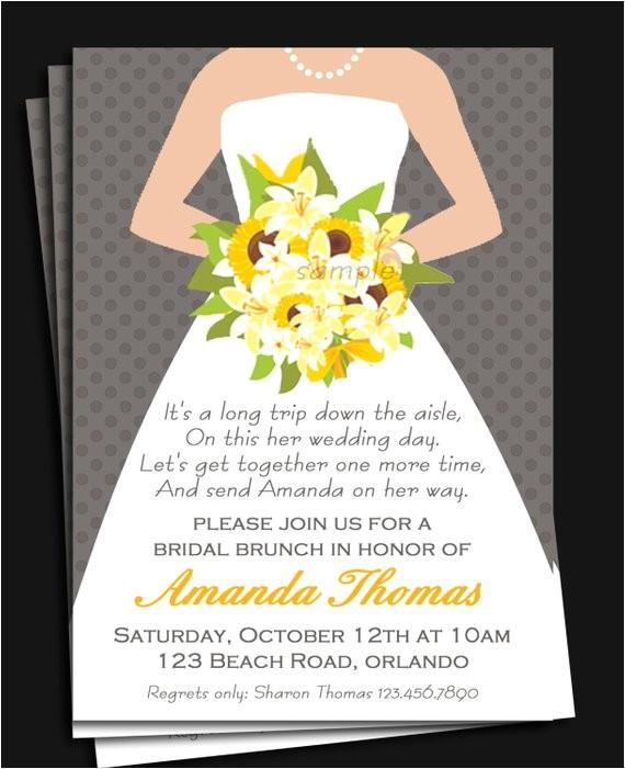 bridal gown invitation printable bridal shower
