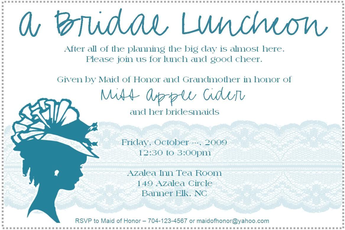Wedding Lunch Invitation Wording Bridal Luncheon Invitation Weddingbee