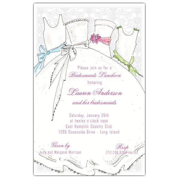 bridal party bridesmaids luncheon invitations p 622 58 222ws