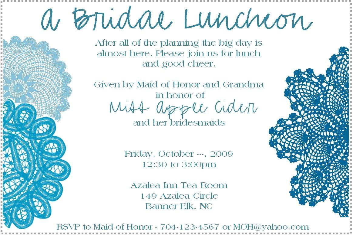 free bridal shower brunch invitations