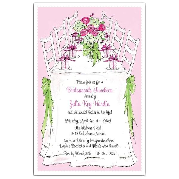 bridesmaids luncheon invitations p 622 58 213py