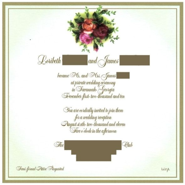 invitation wording advice