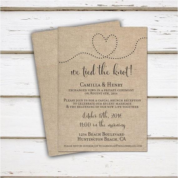 printable elopement reception invitation wedding reception 3