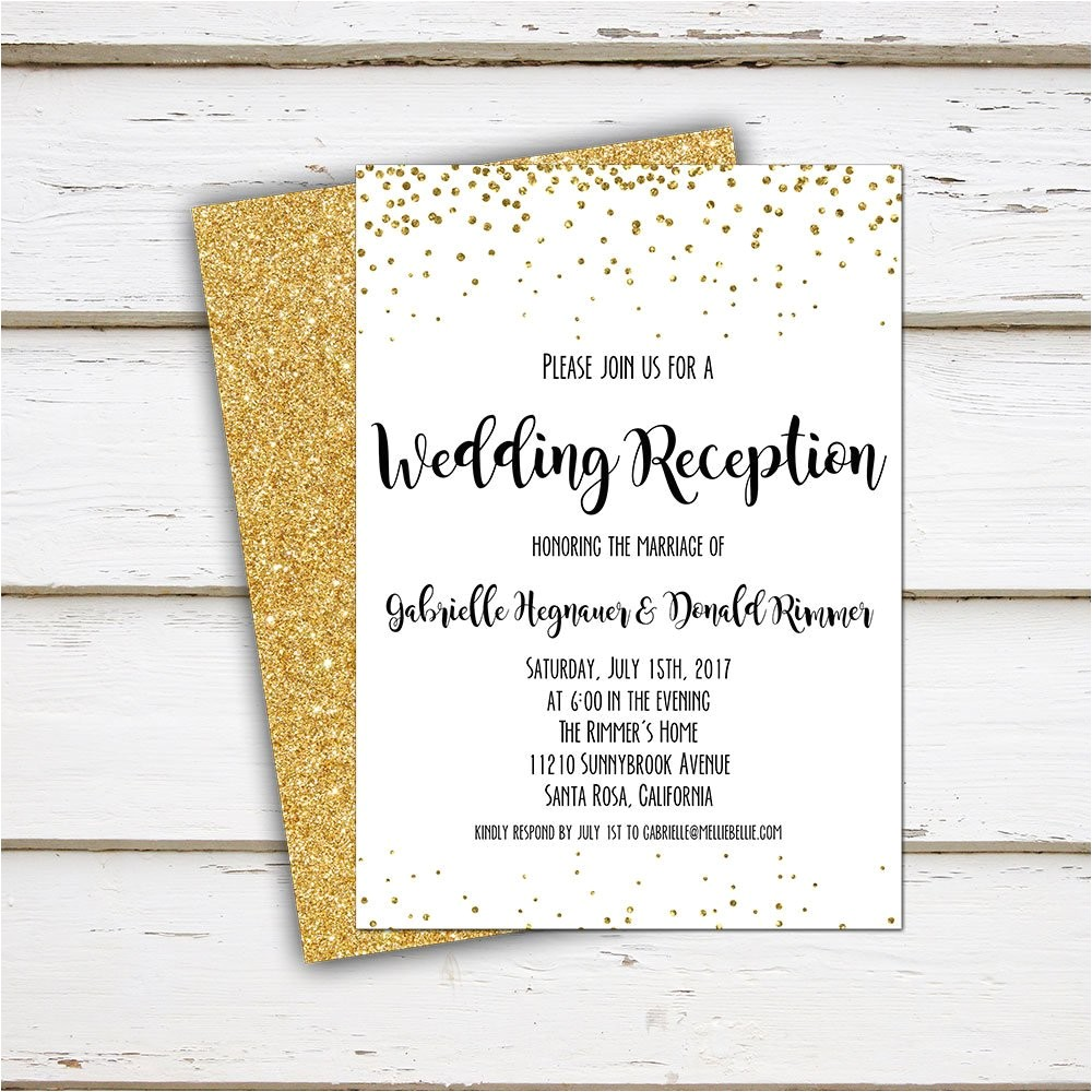 printable elopement reception invitation