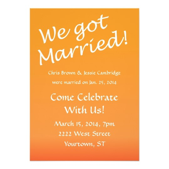 we got married post wedding party invitation 161407852932699229