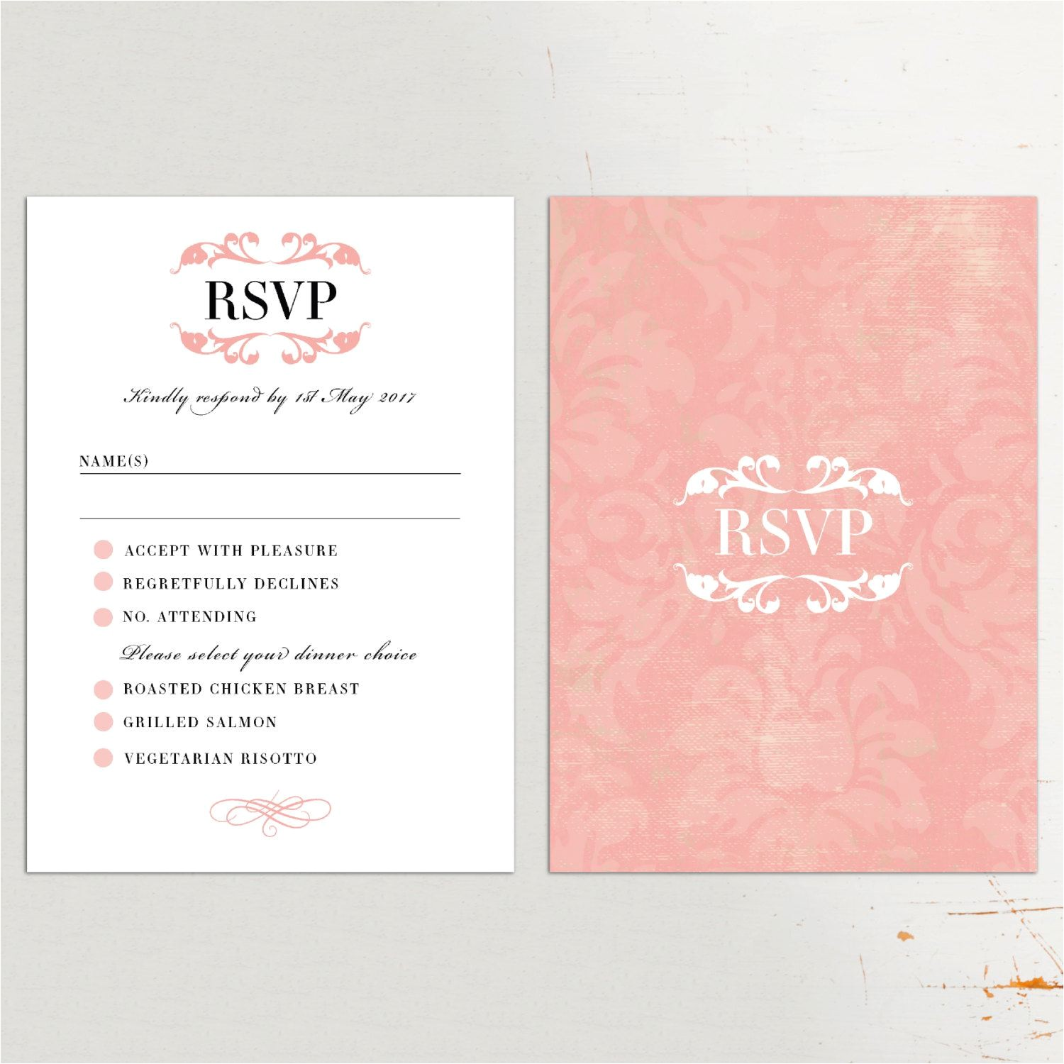 wedding invitations with rsvp cards attached uk 3