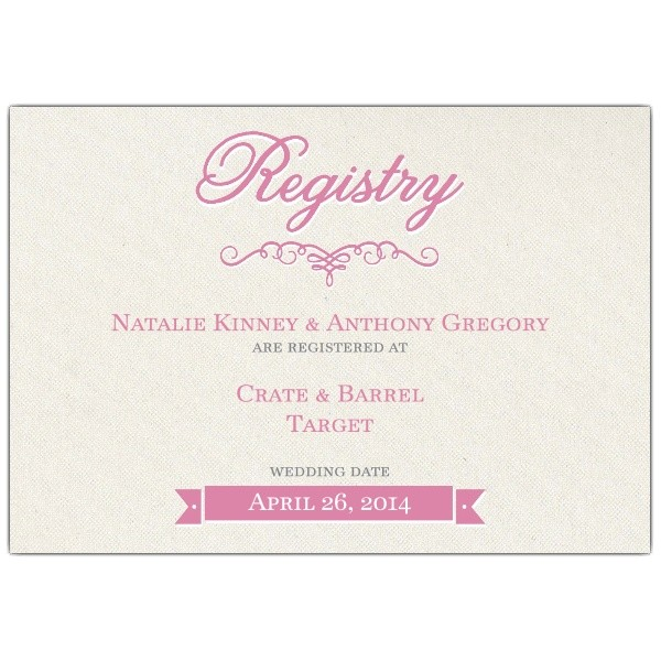 pretty bride bridal registry cards p 638 53rec 109