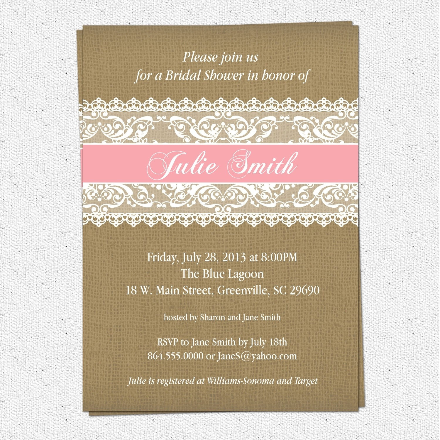 bridal shower invite etiquette template