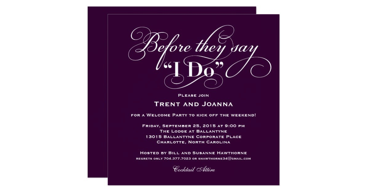 wedding welcome party invitation wedding vows 256626123830970987