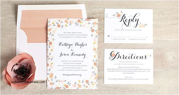 what is included in a wedding invitation suite
