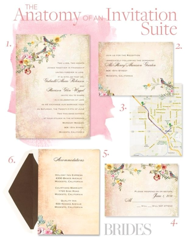what is included in a wedding invitation suite 49223