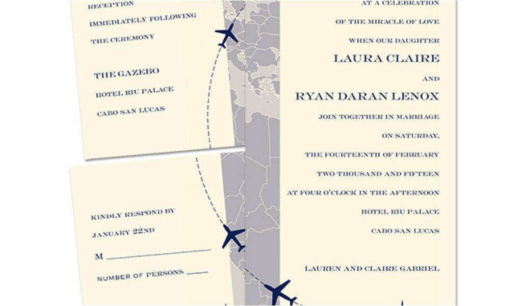 destination wedding invitations from anns bridal bargains