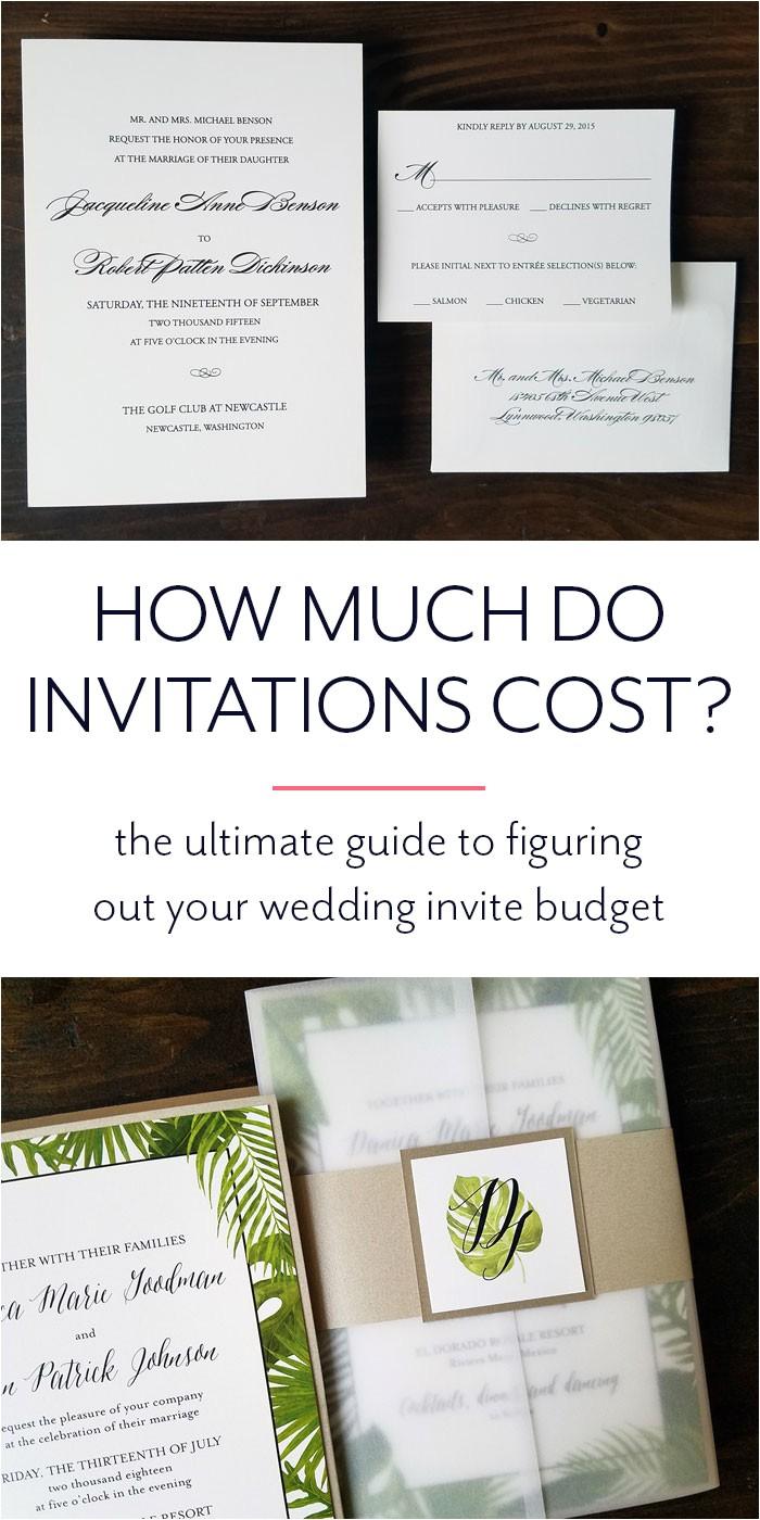 invitation pricing