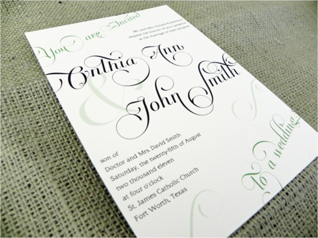 5 what should wedding invitations say