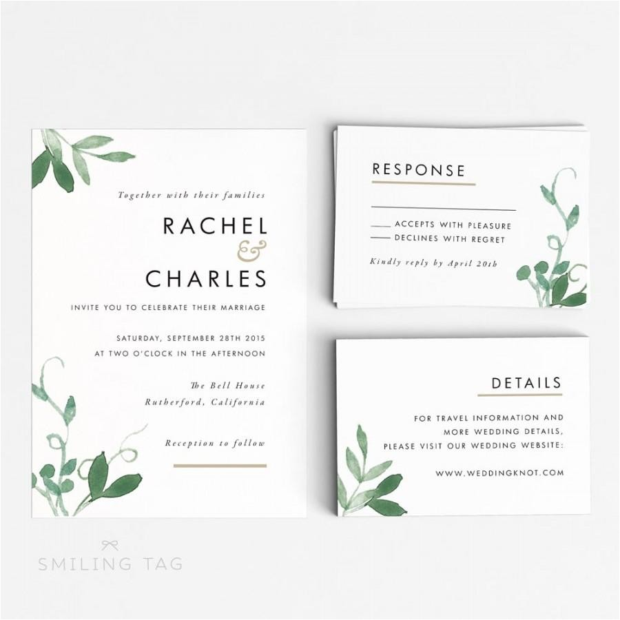 printable wedding invitation set modern botanical wedding invites ready to print pdf rsvp card letter or a4 size item code p127
